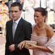 Stéphanie de Monaco et son fils Louis lors du mariage de son frère Albert avec la douce Charlene. Juillet 2011