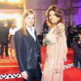 Le Créateur Christophe Guillarmé en compagnie de l'actrice marocaine Leila Hadioui    dans une gandoura courte en georgette de soie beige rebrodée.