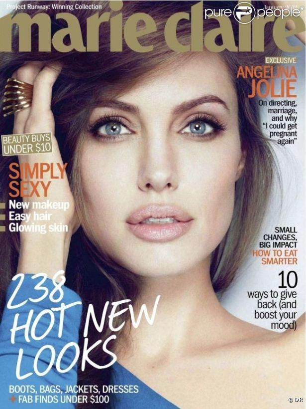 Angelina Jolie en couverture de Marie Claire USA pour le mois de janvier