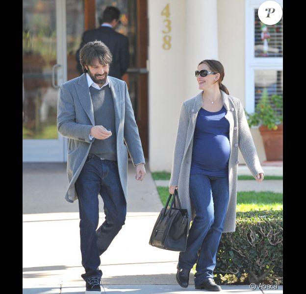 Jennifer Garner et Ben Affleck le 9 décembre 2011 sortant d'une réunion de professeurs pour le fille Violet à Brentwood (Californie)