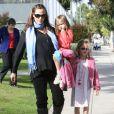 Jennifer Garner et ses filles Violet et Seraphina le 5 décembre 2011