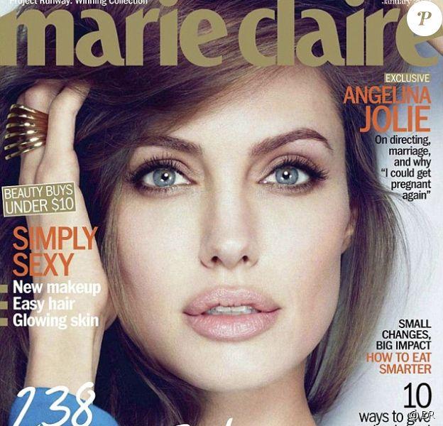 Angelina Jolie en couverture de Marie Claire