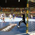Amandine Leynaud le 18 décembre 2011 à Sao Paulo au Brésil lors de la finale des Championnats du monde de handball perdue face à la Norvège