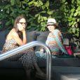 Barbara Feltus et Lilly Kerssenberg à Miami le 27 décembre 2011