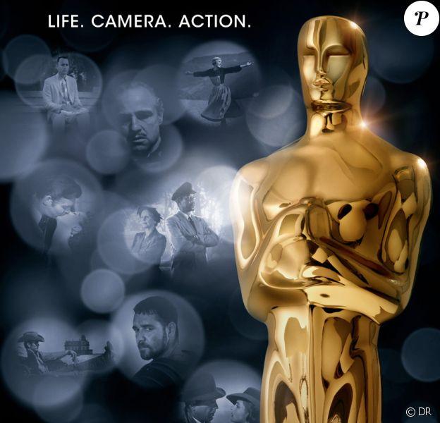 L'affiche des Oscars 2012.