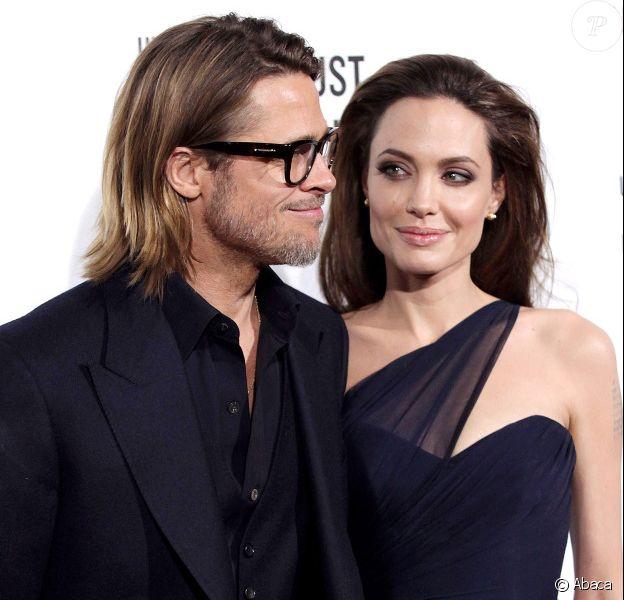 Angelina Jolie et Brad Pitt en décembre 2011 à Los Angeles