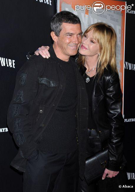 Antonio Banderas et Melanie Griffith à l'avant-première de Haywire, le 5 janvier 2012 à Los Angeles.
