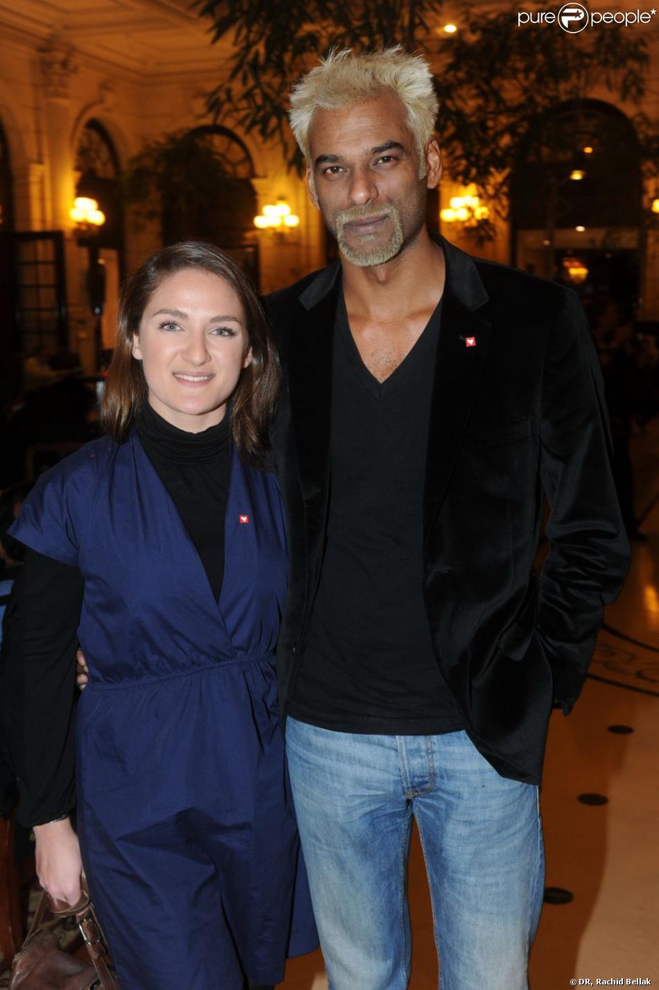 Satya Oblet et sa femme lors du gala mécénat chirurgie cardiaque au grand Hôtel à Paris, le 9 ...