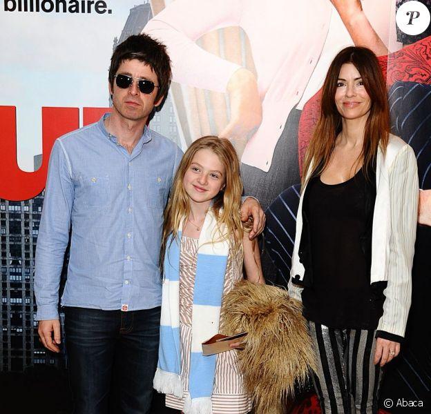 Noel Gallagher, sa fille Anais et sa femme Sarah en avril 2011