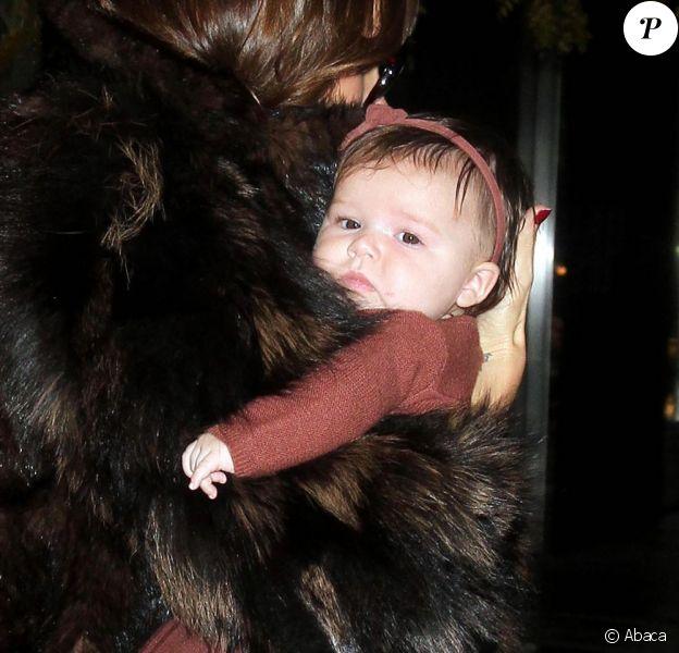 Harper Seven Beckham, âgée de 6 mois seulement, est déjà un bébé modèle qui ne s'habille qu'en Bonpoint.