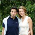 Sylvie Tellier et son mari Camille en juin 2005 à Paris
