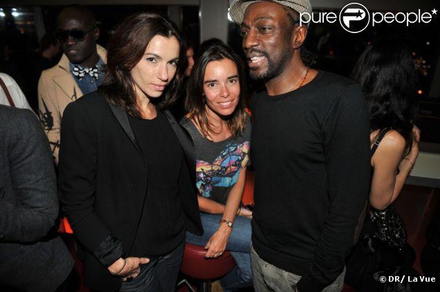 Aure Atika, Elodie Bouchez et Marco Prince lors de la soirée de lancement du nouveau bar panoramique de l'Hôtel Concorde La Fayette La Vue le jeudi 19 janvier 2012 à Paris