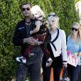Gavin Rossdale, sa femme Gwen Stefani et leurs fils Kingston et Zuma, vont à une fête à Los Feliz, le 28 janvier 2012