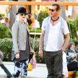 Gwen Stefani, en compagnie de son mari Gavin Rossdale et leurs fils Kingston et Zuma, dans un parc de Los Angeles le 29 janvier 2012