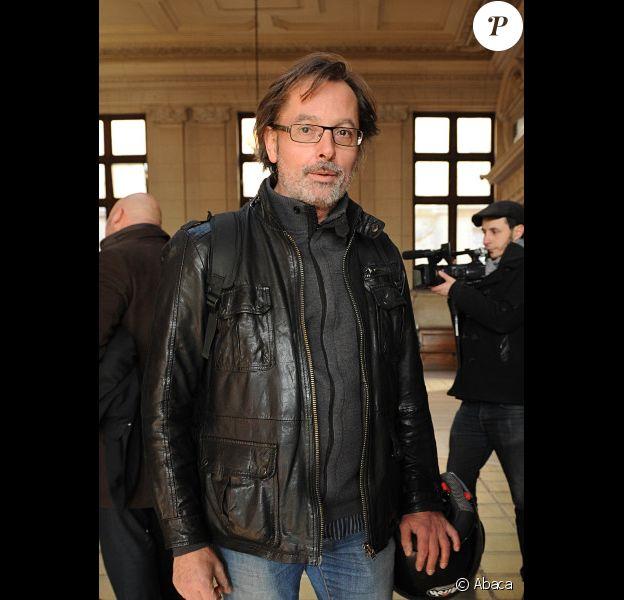 Christophe Alévêque à son arrivée au tribunal correctionnel de Paris le 2 février 2012