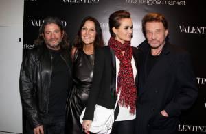 Johnny Hallyday et Laeticia entourés de leurs amis lors d'une soirée d'exception