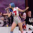 Katy Perry donne un concert à la fête du Super Bowl donnée par Direct TV à Indianapolis, le 4 février 2012.