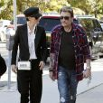 Johnny Hallyday et Laeticia à Los Angeles, le 8 février 2012.