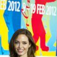Angelina Jolie présente  Au pays du sang et du miel  au festival de Berlin, le 11 février 2012.