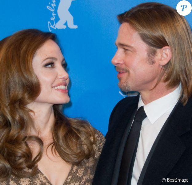 Angelina Jolie et Brad Pitt, couple glamour du festival de Berlin le 11 février 2012.