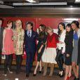 Les dix ambassadeurs de la campagne Britain's Great, lancée à New York dans la gare Grand Central. Le 15 février 2012.