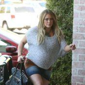 Hilary Duff, sur le point d'accoucher, chouchoute son mari fraîchement opéré