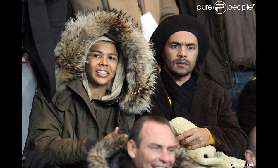 Ayo et Patrice lors du match au sommet entre le PSG et