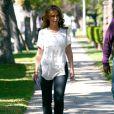 Jennifer Love Hewitt sur le tournage de The Client List, à Los Angeles, le 21 février 2012