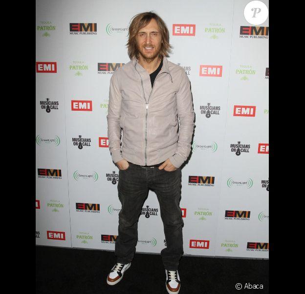 David Guetta à Hollywood, en février 2012.