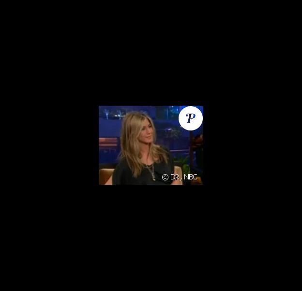 Jennifer Aniston sur le plateau du Tonight Show de Jay Leno, le vendredi 24 février 2012.