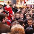 Nicolas Sarkozy en visite au Salon de l'agriculture le 25 février 2012 à Paris