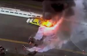Juan Pablo Montoya : Après un terrible accident, sa voiture prend feu