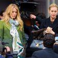 Blake Lively et sa maman dans la série Kelly Rutherford sur le tournage de Gossip Girl, le 1er mars, à New York