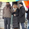 Blake Lively sur le tournage de Gossip Girl le 1er mars 2012 à New York