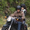 Gerard Butler et Jessica Biel en balade à moto, à Malibu le 2 juin 2011.