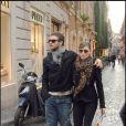 Justin Timberlake et Jessica Biel se promènent à Rome, le 24 septembre 2008.