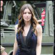 Jessica Biel tient le premier rôle féminin du film  L'Agence Tous Risques  : elle en fait la promotion, ravissante à Paris le 14 juin 2010.