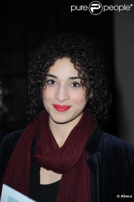 Camélia Jordana lors du défilé Jean-Paul Gaultier à Paris le 3 mars 2012.