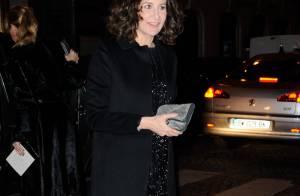 Valérie Lemercier, modeuse d'un soir devant Christian Louboutin