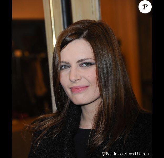 Elodie Frégé le 4 mars 2012 lors du Gala de charité Enfance Majuscule organisé à la salle Gaveau à Paris