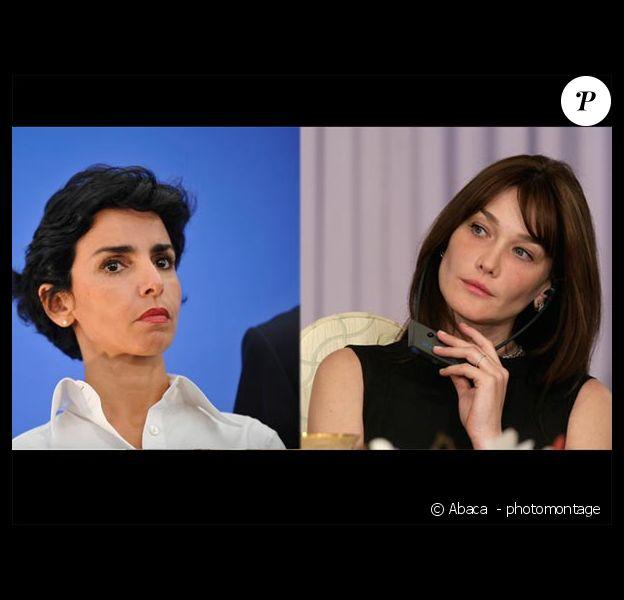 Rachida Dati et Carla Bruni