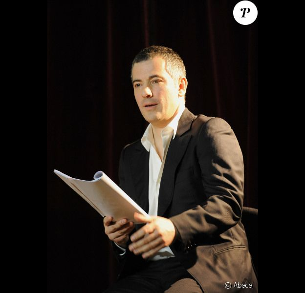 Bruno Putzulu lors d'une lecture de textes inédits de Tennessee Williams le 12 mars 2012 au Théâtre du Châtelet