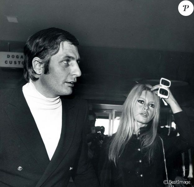 Brigitte Bardot et Gunter Sachs à Rome en 1966.
