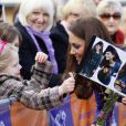 Kate Middleton lors de sa visite au centre de soins pédiatriques The Treehouse à Ipswich, le 19 mars 2012, en sa qualité de marraine d'East Anglia's Children Hospices.