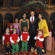 Barack Obama, sa femme Michelle et leurs filles Sasha, 10 ans et demi, et Malia, 13 ans et demi, en décembre 2011 à Washington.