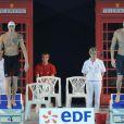 Fred Bousquet et Amaury Leveaux, un seul passera... Les championnats de France de natation de Dunkerque, qualificatifs pour les Jeux olympiques de Londres comme le laissent deviner les cabines téléphoniques en déco, ont été riches en sensations, en mars 2012.