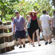 Adam Sandler et sa femme en vacances à Miami le 29 mars 2012
