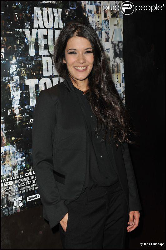 Mélanie Doutey lors de l'avant-première à Paris du film Aux yeux de tous le 2 avril 2012