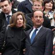 François Hollande et Valérie Trierweiler, à Rennes, le mercredi 4 avril 2012.