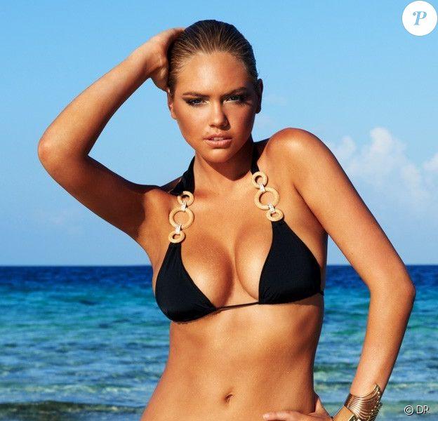 Kate Upton rempile pour Beach Bunny en posant avec les derniers modèles de la marque.